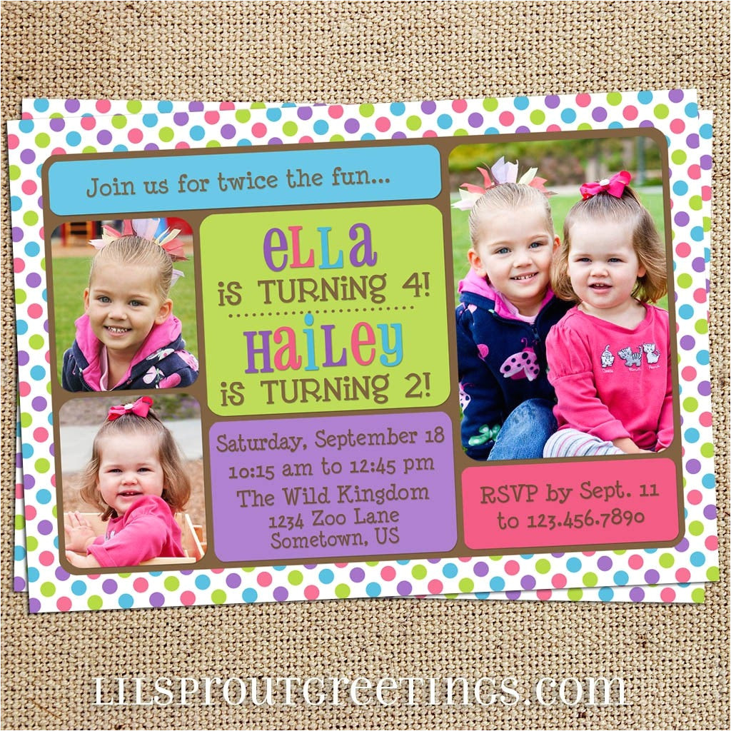 free joint birthday invitation templates