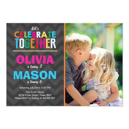 joint twin birthday party invitation boy girl 256036220338119130