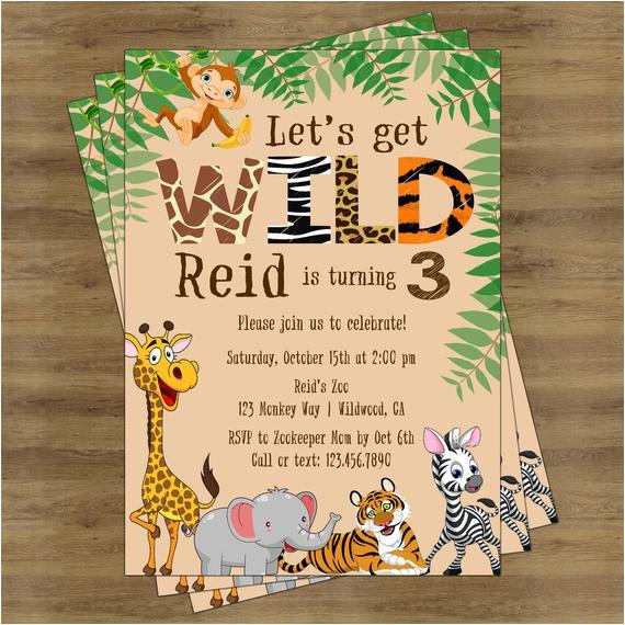 safari birthday invitation jungle