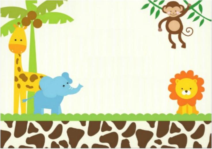 safari birthday invitation template free