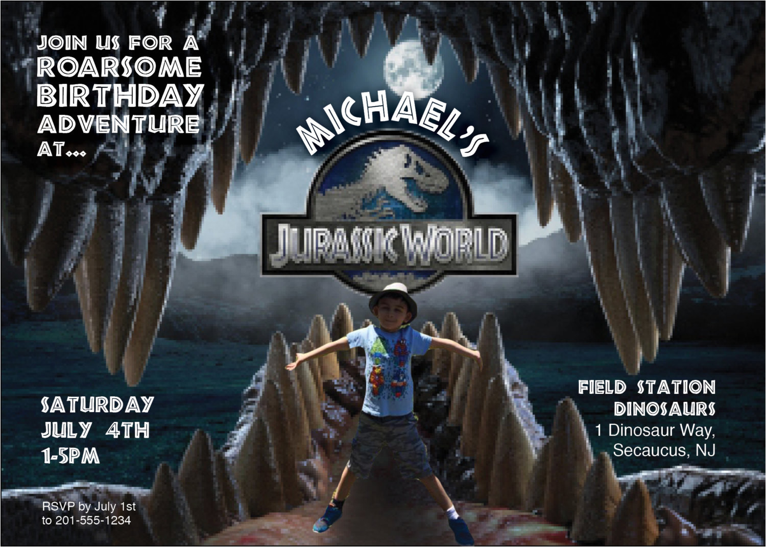 28 images of jurassic world birthday invitations template download 4158
