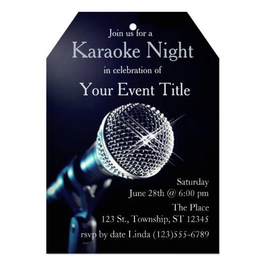 adults karaoke party custom invitation 256247940414387894