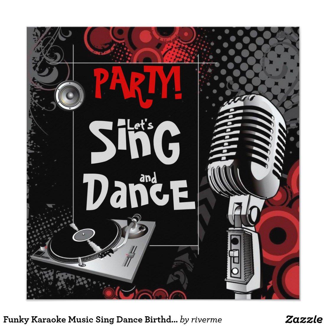 karaoke birthday party invitations