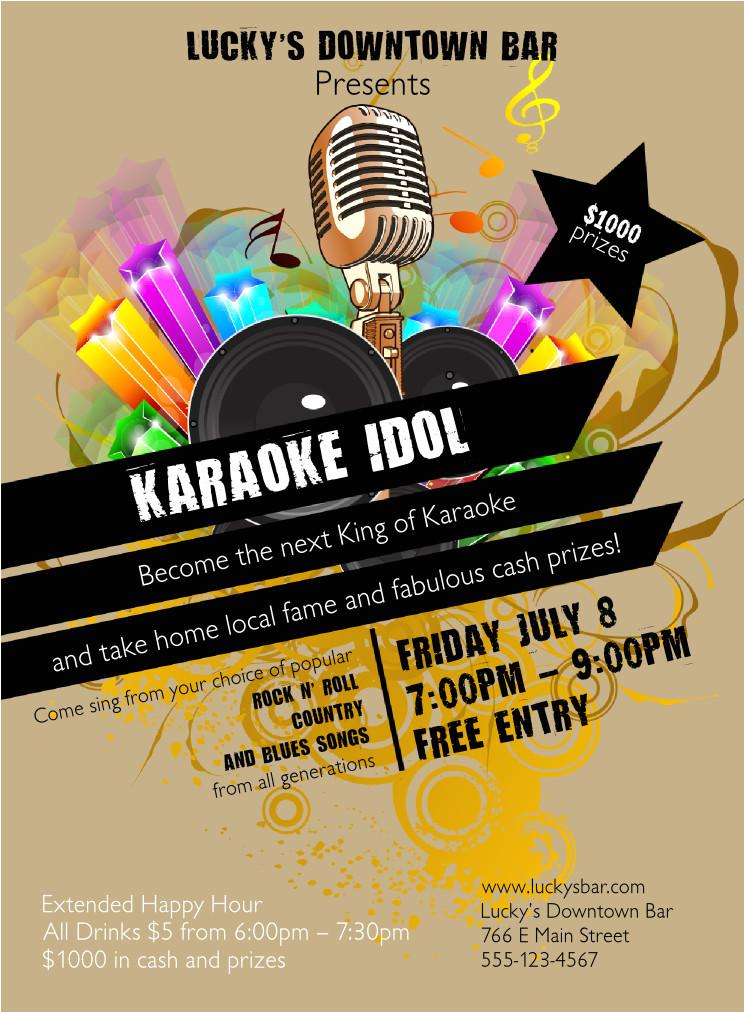 karaoke invitation