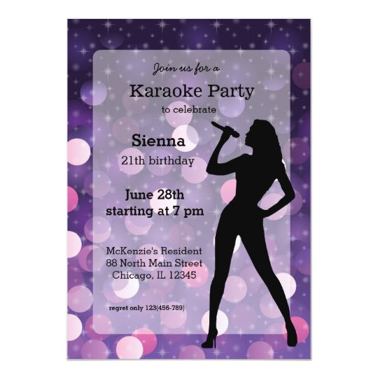 karaoke party invitation 256657145757471058