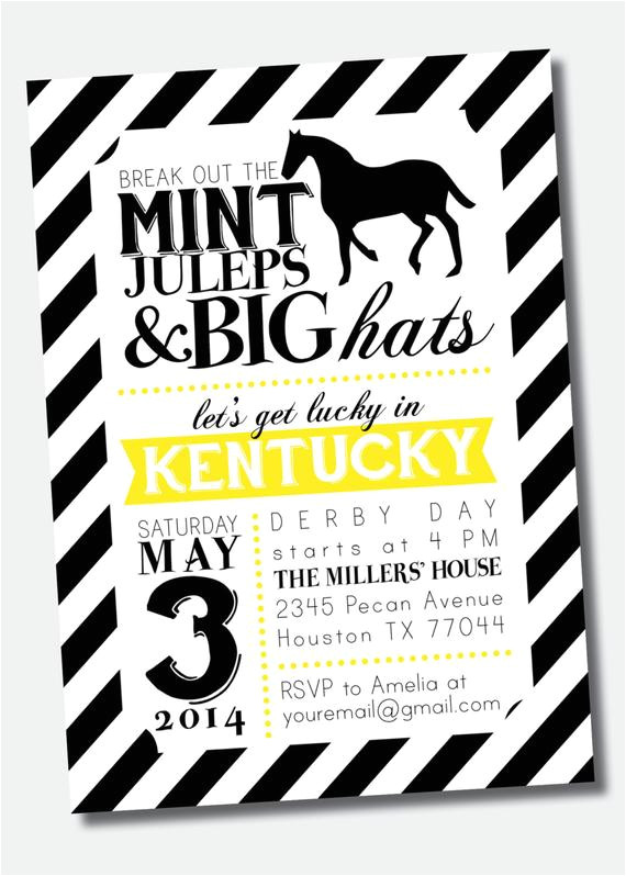 customizable kentucky derby party