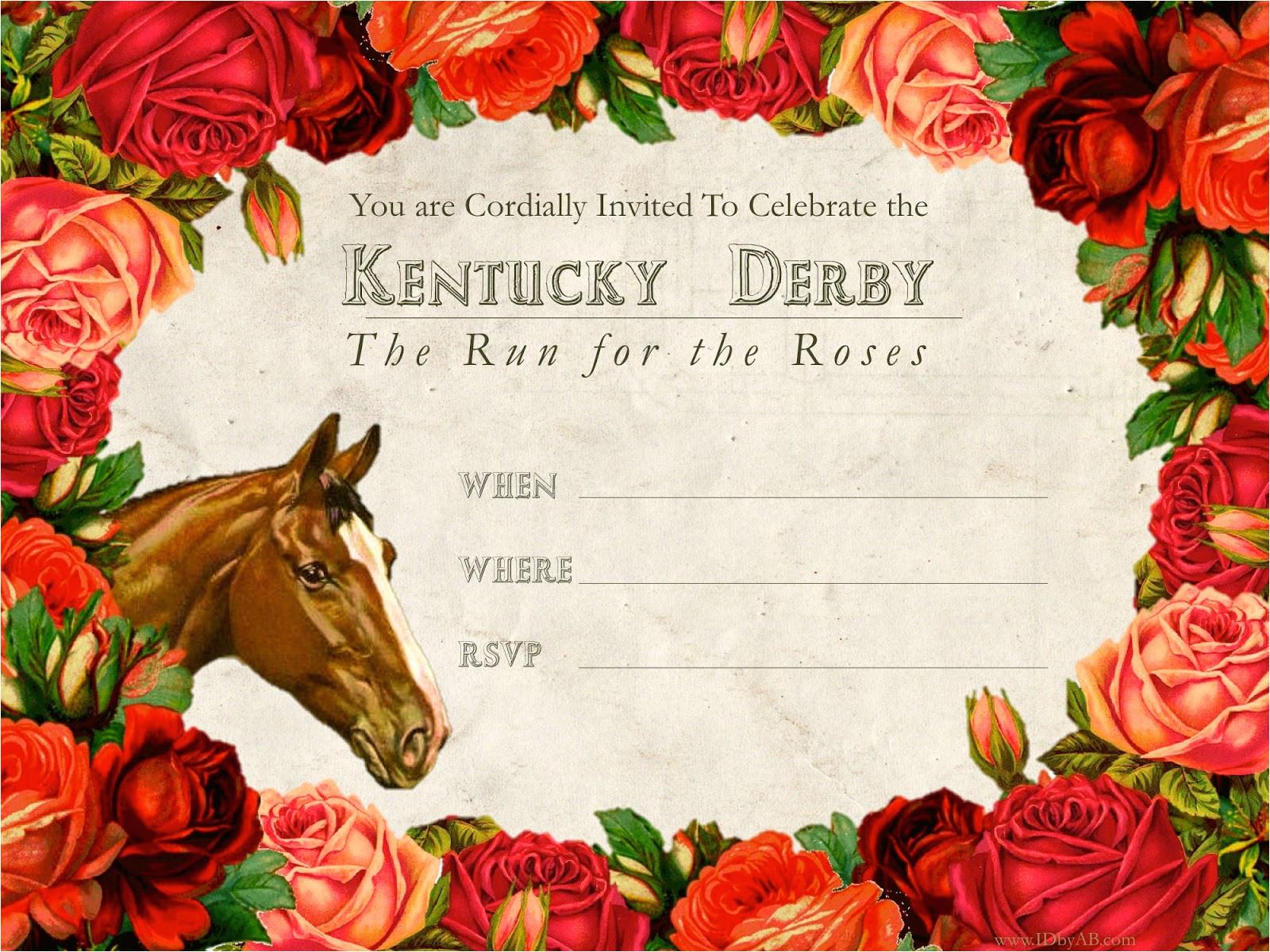 kentucky derby free printable invitation