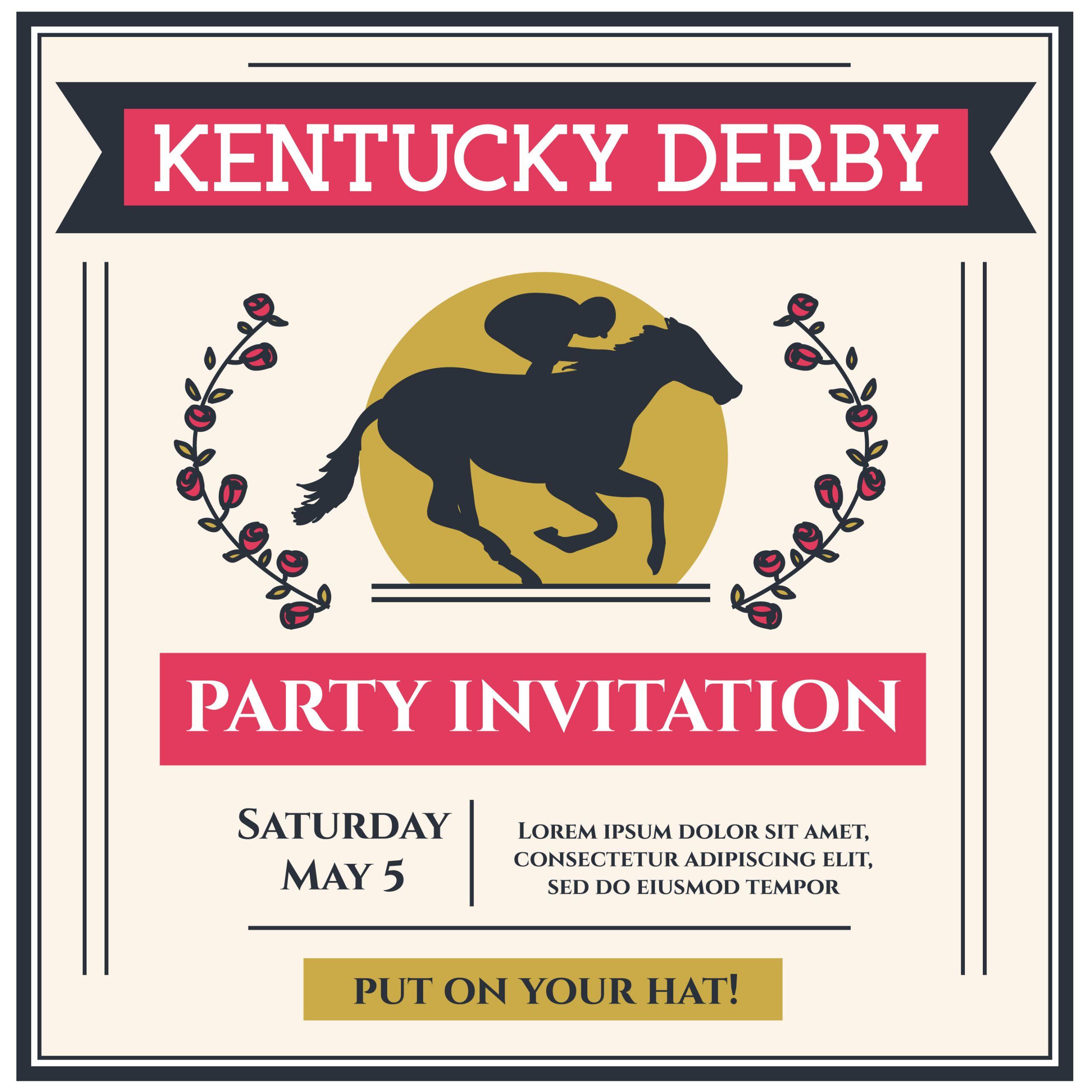 198644 kentucky derby party invitation vector