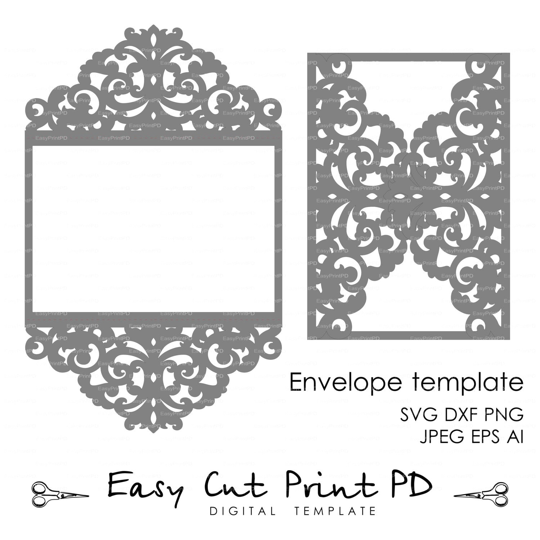 wedding invitation pattern card template