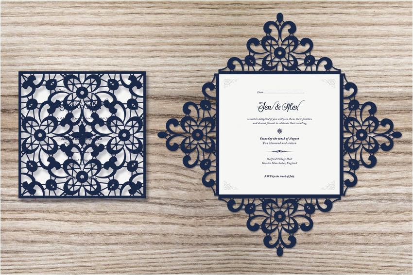 design a laser cut wedding invitation cms 26787