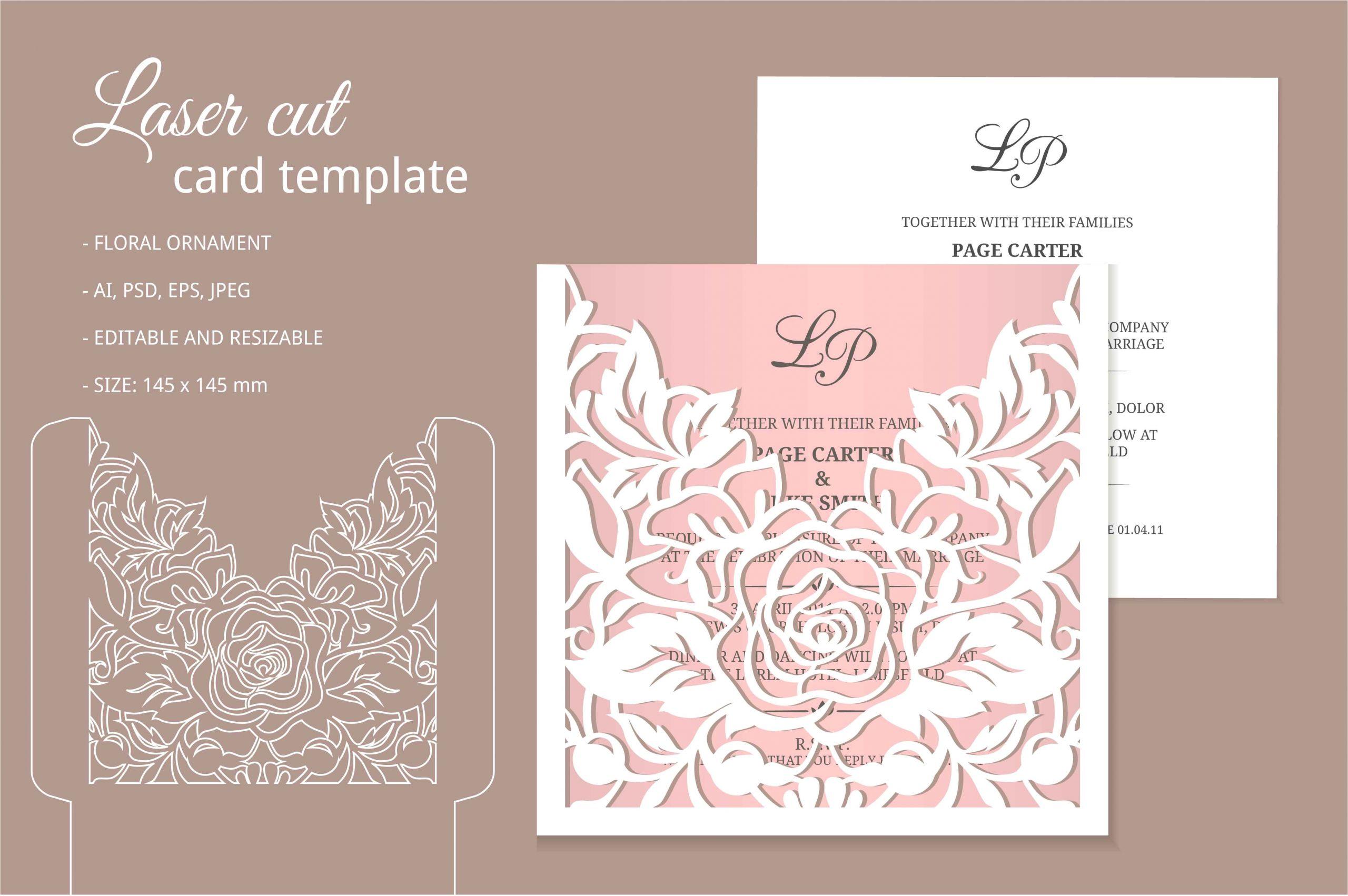 2042111 laser cut invitation template