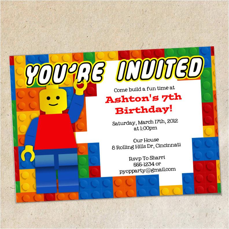 legos invitation template lego party
