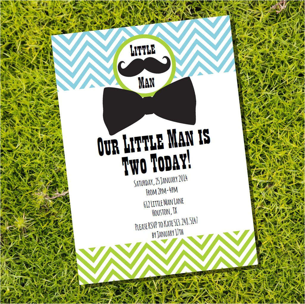 little man birthday party invitation boy birthday invite template