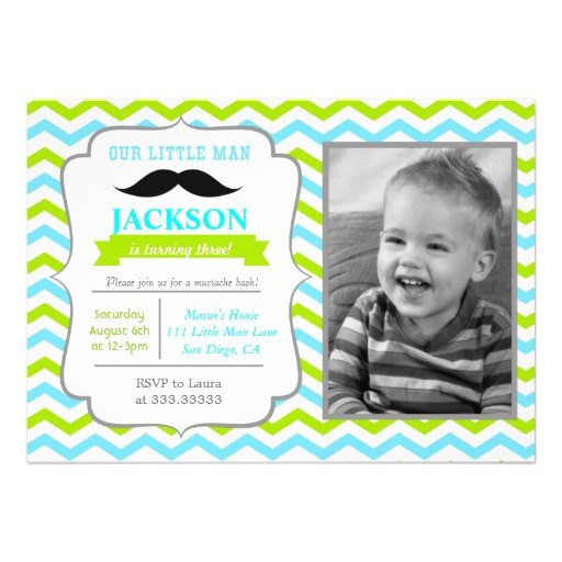 little man birthday party invitations
