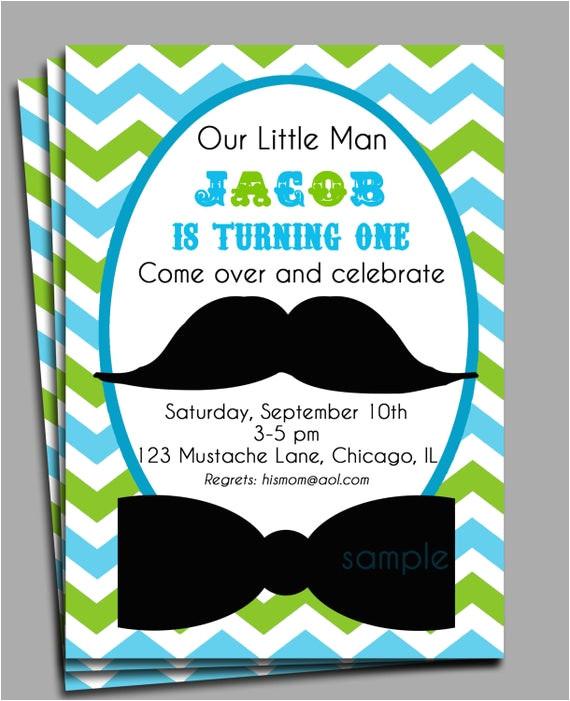 little man mustache invitation printable