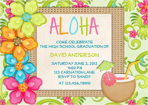 luau birthday invitation sweet 16