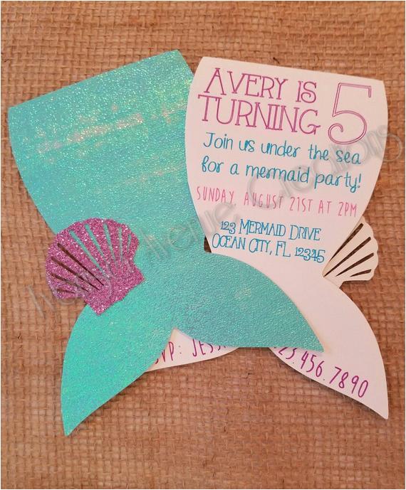 12 mermaid invitations mermaid party