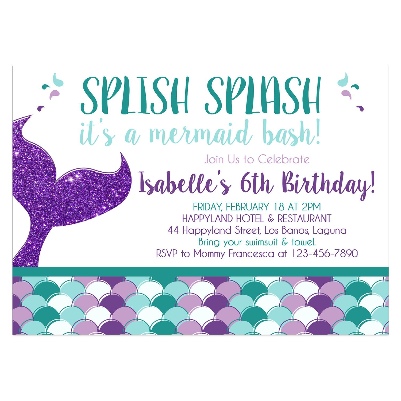 mermaid birthday invitation 092