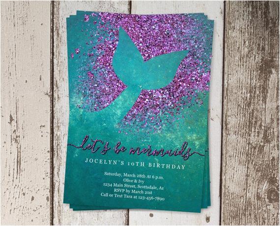 printable mermaid invitation template
