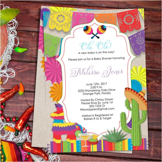 baby shower fiesta mexican themed baby