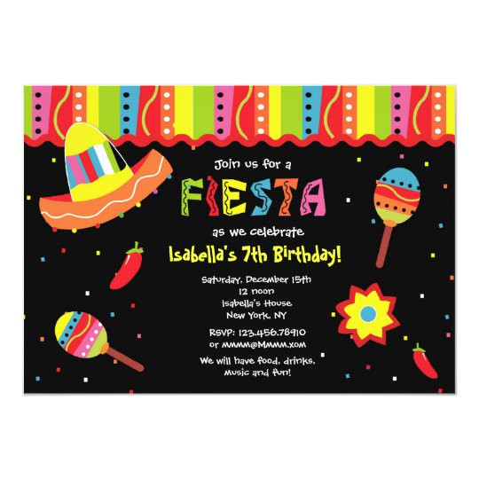 mexican fiesta birthday party invitations 161502536052263838