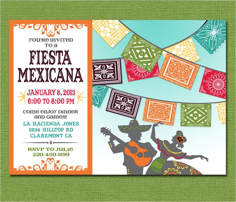 print yourself mexican fiesta invitation
