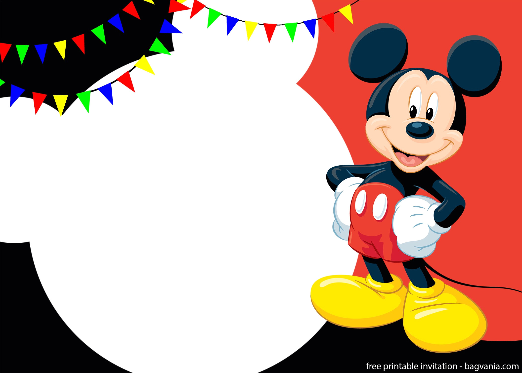 free printable cute mickey mouse invitation templates