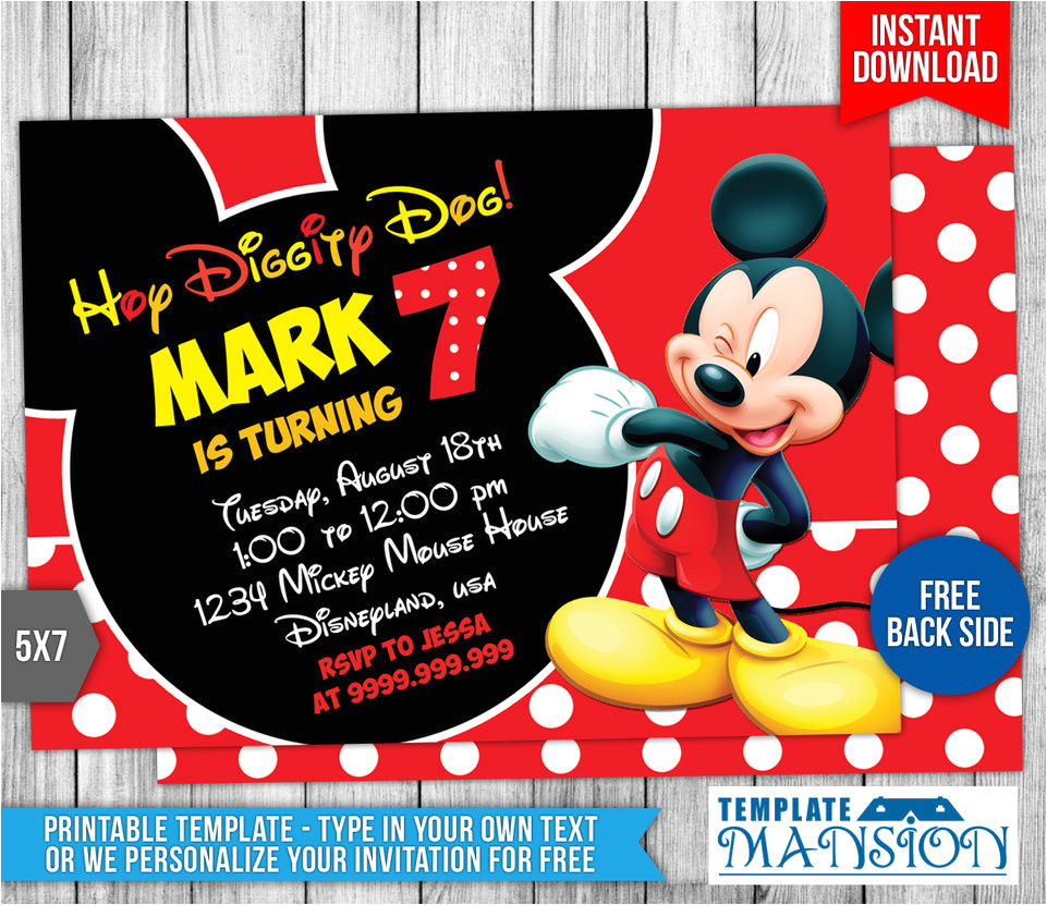 mickey mouse birthday invitation 4 554589967