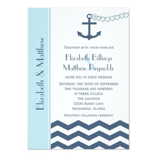 nautical themed wedding invitations blue 161645982178376893