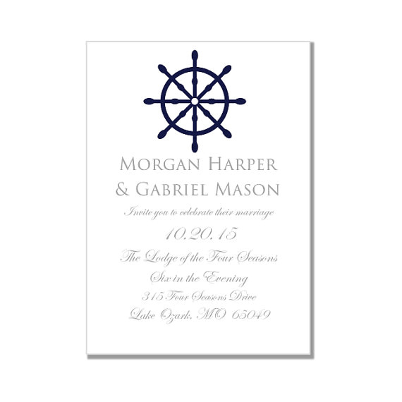 nautical wedding invitation template quotnautical wheelquot printable wedding invitation instant download microsoft word format