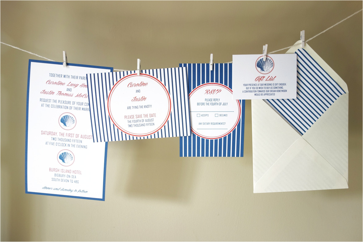 diy free nautical wedding invitation template