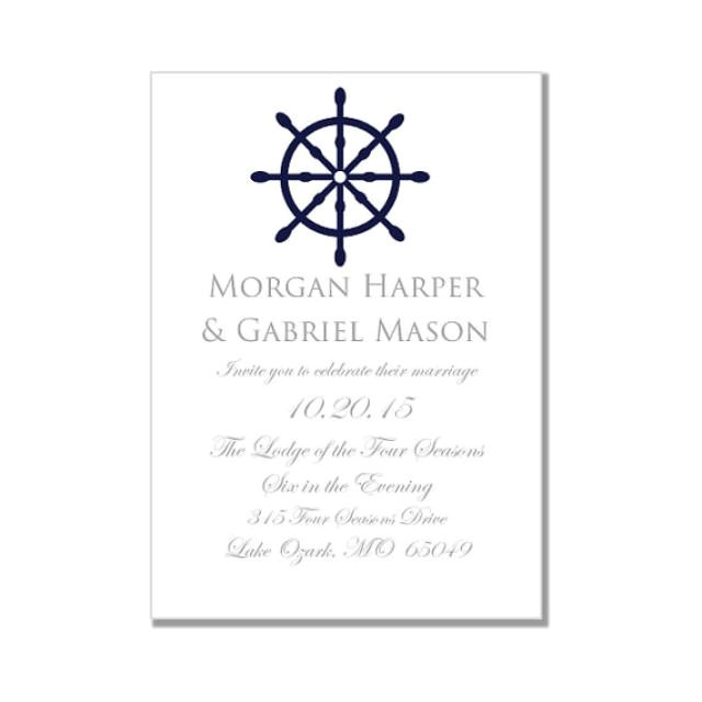 nautical wedding invitation template quotnautical wheelquot printable wedding invitation instant download microsoft word format
