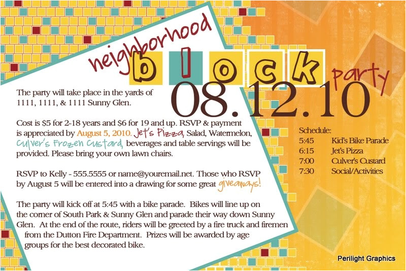 block party invitations