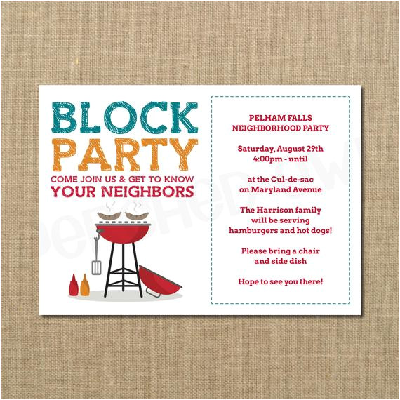 neighborhood block party cookout