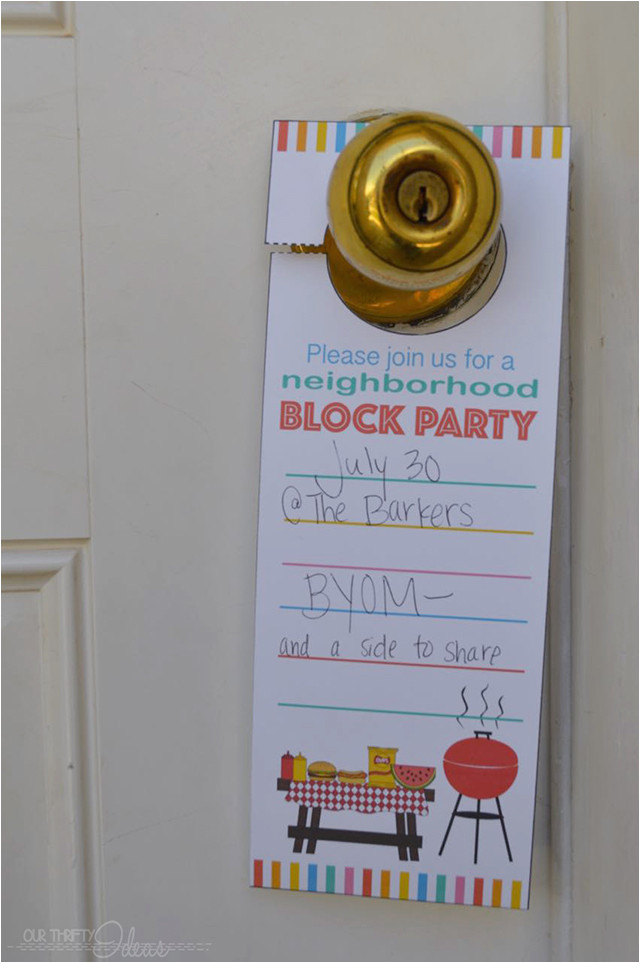 neighborhood block party invitation free printable