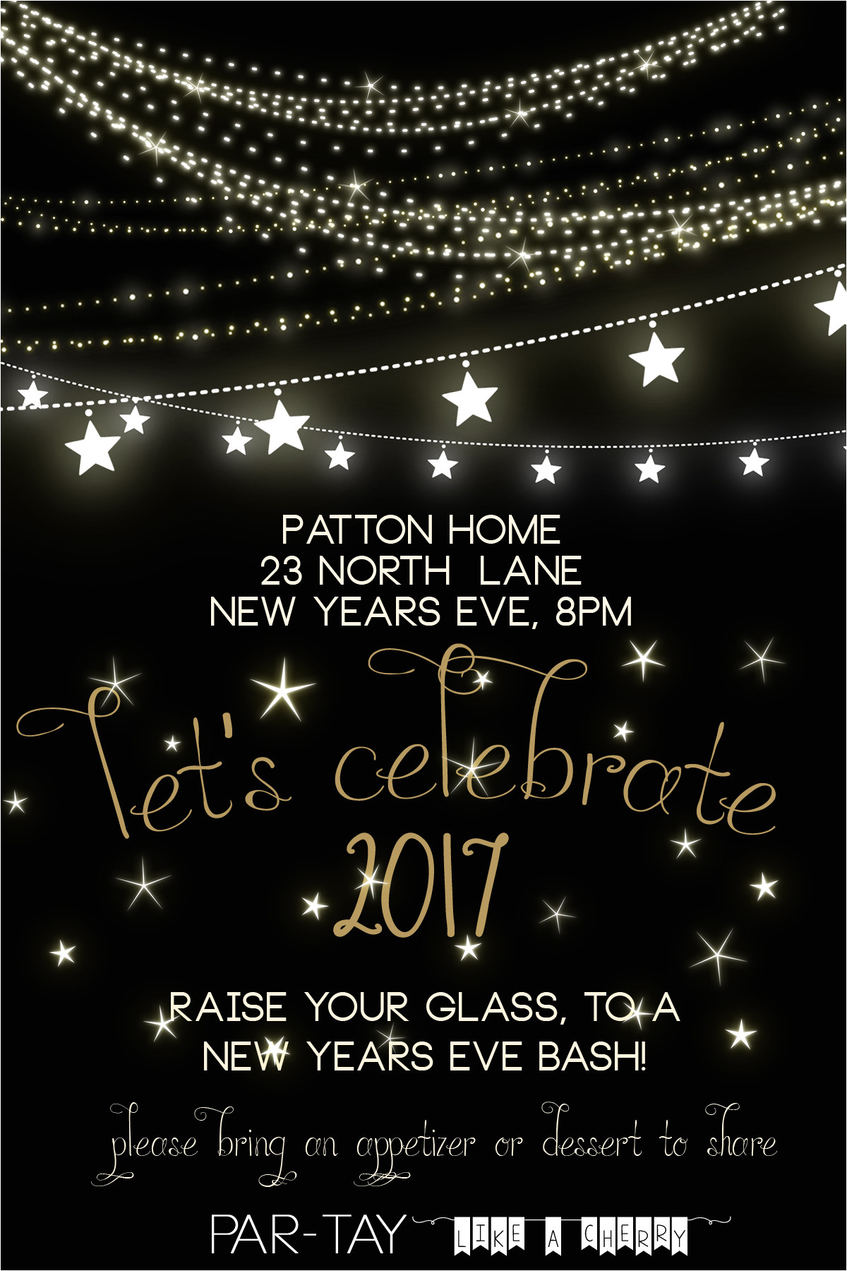 free new years party invitation