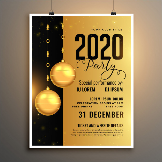 new year party hand choose invitations greeting cards flyers
