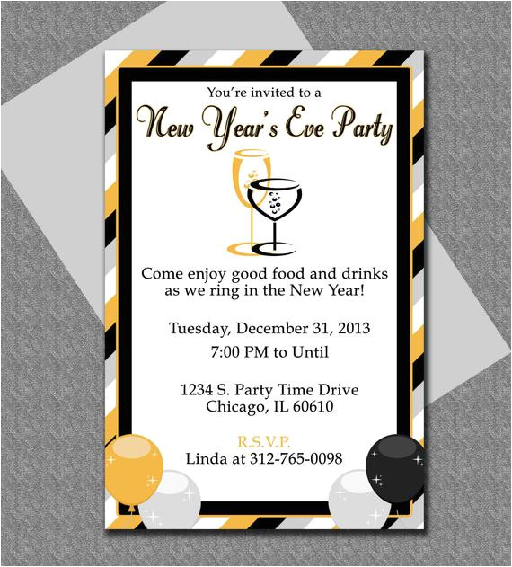 new years eve party invitation editable