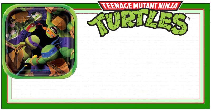 teenage mutant ninja invitations