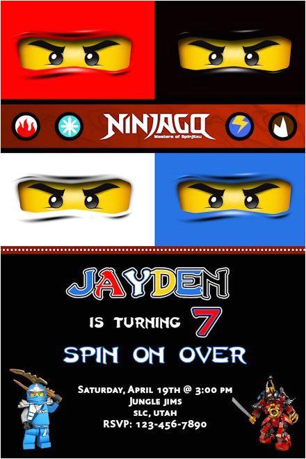 ninjago birthday invitations