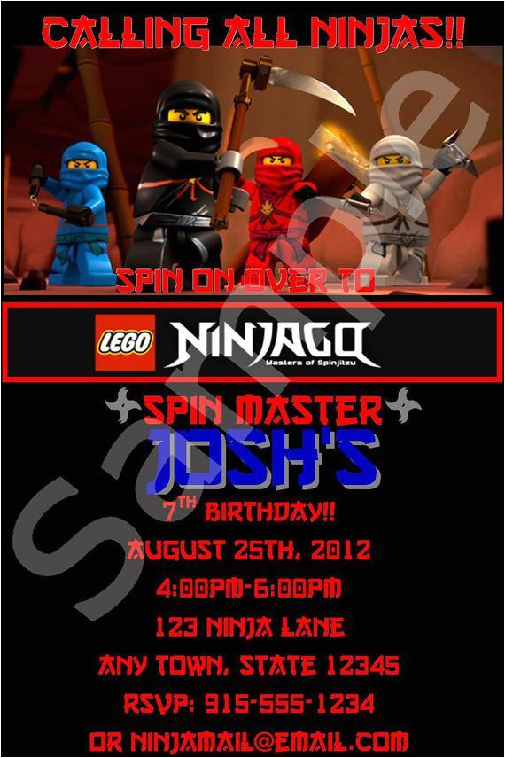 birthday invitation templates ninjago