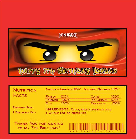 ninjago birthday invitation template