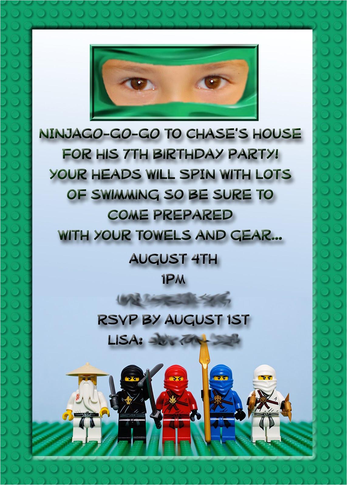 ninjago party my son chase recently had