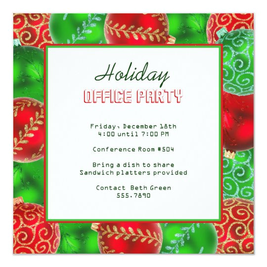 christmas holiday office party invitations 161214502838703057