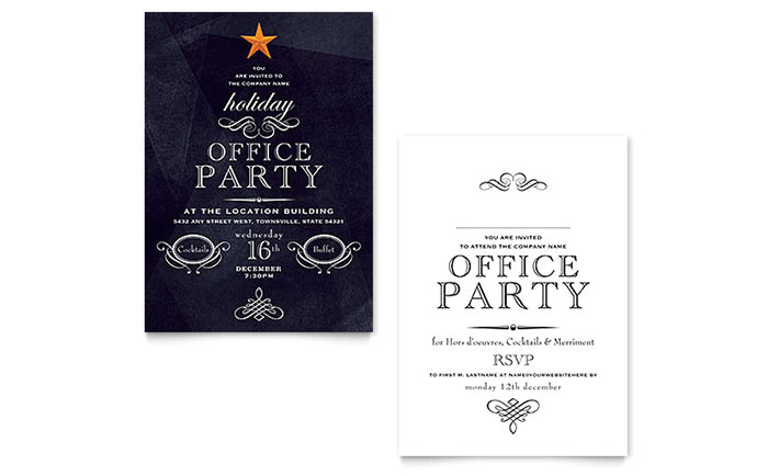office holiday party invitation template design xx1022701