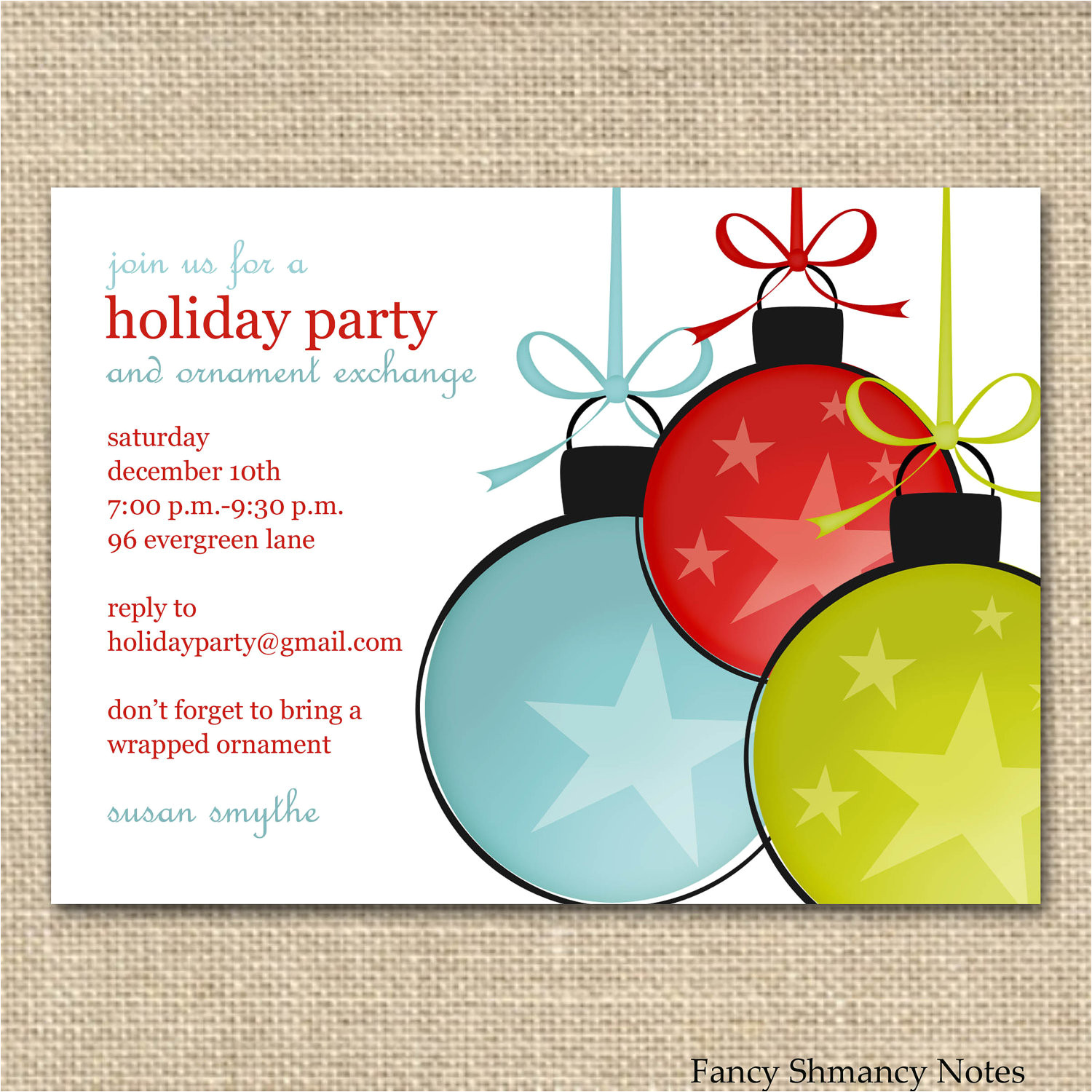 free christmas office party invitation templates