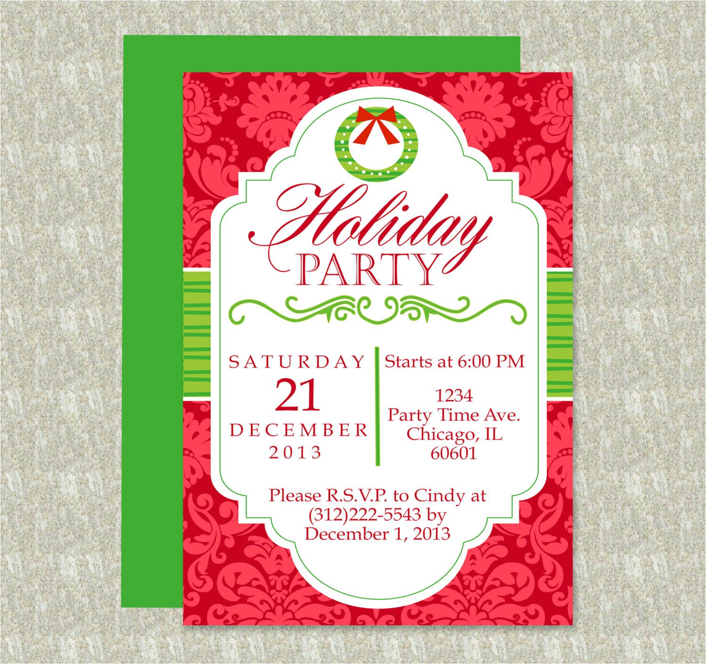 holiday party invitation editable
