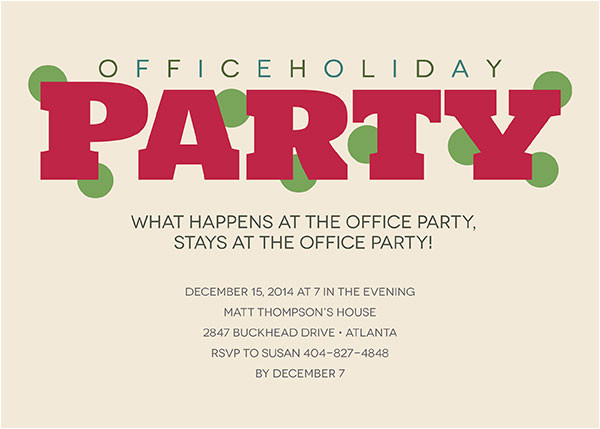 office party invitations