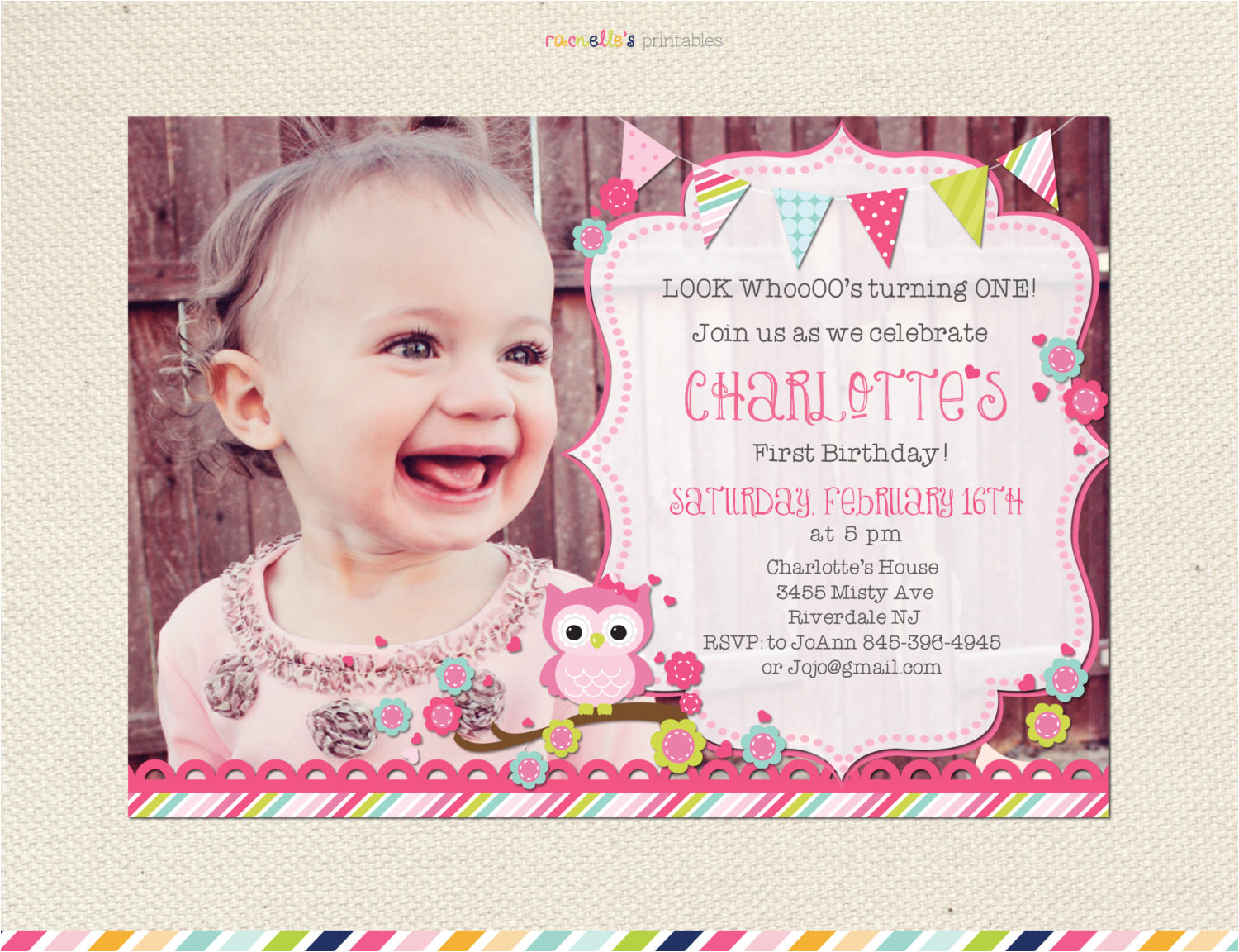 look whos turning one owl birthday