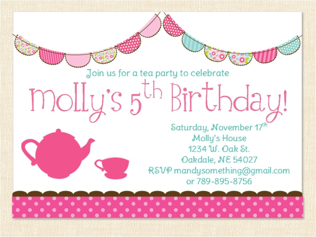 little girl birthday invitation
